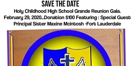 HOLY CHILDHOOD HIGH SCHOOL GRANDE REUNION GALA 2020