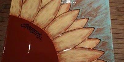 Sunflower platter class at Pavilion