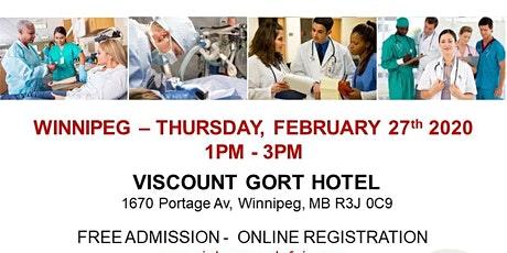 Winnipeg Healthcare Profession Job Fair - February 27th, 2020 tickets