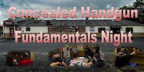 Concealed Handgun Fundamentals Night tickets