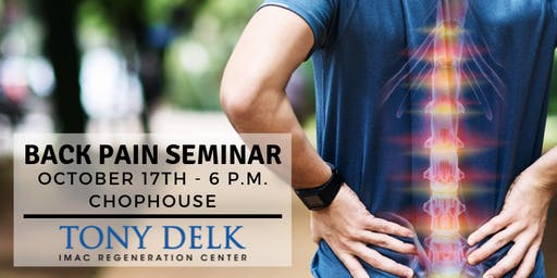 FREE Back Pain DINNER Seminar - Oct. 17
