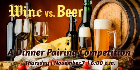 Wine vs. Beer | A Dinner Pairing Competition tickets