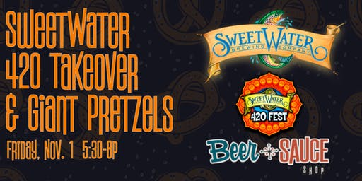 SweetWater 420 Strain Tap Takeover with Beer Cheese Jumbo Pretzels!
