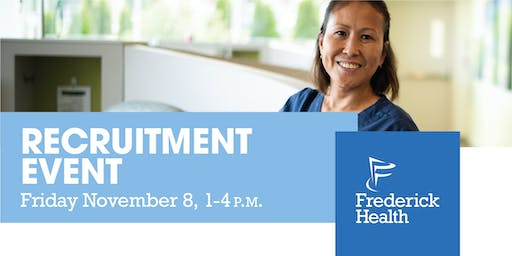 Frederick Health Recruitment Event