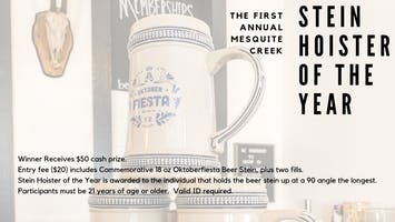 Stein Hoisting Competition - OktoberFiesta - Mesquite Creek Del Rio