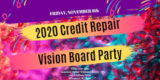 2020 Credit Vision Board Party