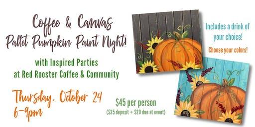 Coffee & Canvas - Pallet Pumpkin