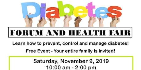 Diabetes Forum and Health Fair - Free tickets