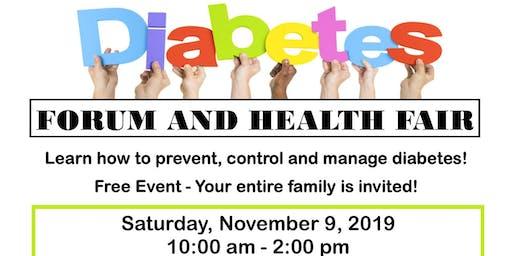 Diabetes Forum and Health Fair - Free