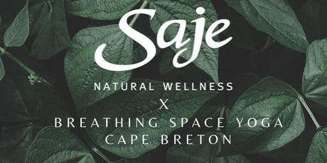 Saje X Breathing Space Yoga Cape Breton Pop Up tickets