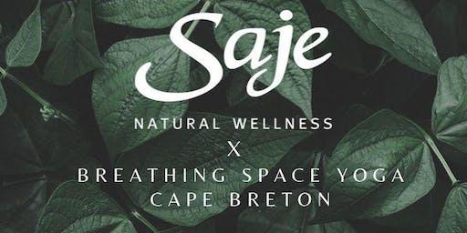Saje X Breathing Space Yoga Cape Breton Pop Up