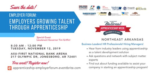 Employer Forum: Employers Growing Talent through Apprenticeship (Northeast AR)