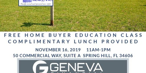 Free Home Buyer Education Class!