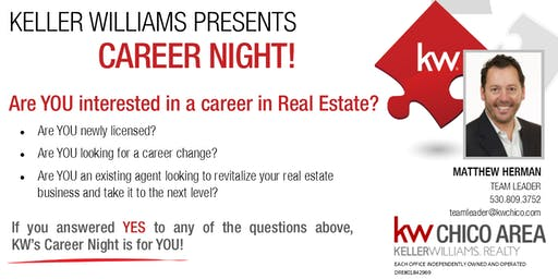 Looking for a career change? Join Keller Williams for Career Night!