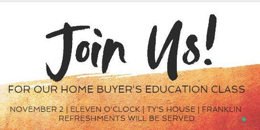 Home buyer's Education Class