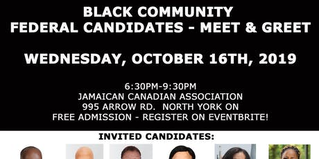 Black Community - Federal Election Candidates Meet & Greet tickets