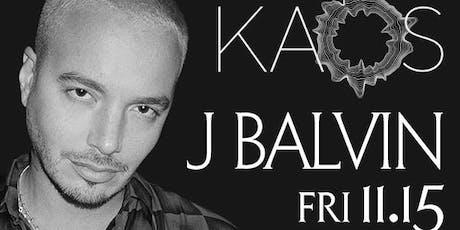 11.15 J Balvin @ KAOS Nightclub Las Vegas tickets