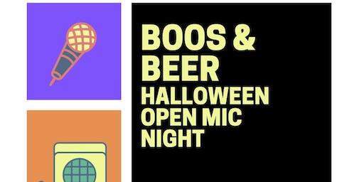 Boos & Beer Halloween Open Mic
