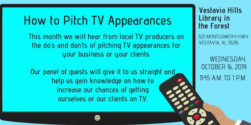 PRCA-B Presents: How to Pitch TV Appearances