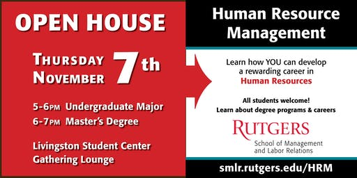 Fall 2019 Rutgers Human Resource Management (HRM) Open House