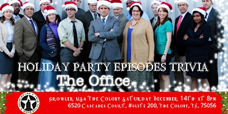 """The Office Trivia """"The Holiday Party Episodes"""" at Growler USA The Colony tickets"""