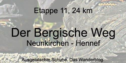 Der Bergische Weg, Etappe 11: Neunkirchen - Hennef (24 km)