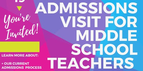 BAA Admissions Visit for Middle School Teachers tickets