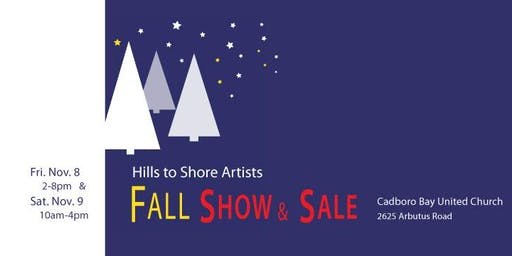 Hills to Shore Artists Fall Show and Sale
