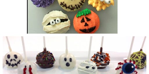 Children's Halloween cupcake and cake pop decorating class