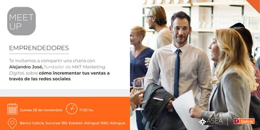 Meet Up para Emprendedores | 28/11 | ADROGUÉ