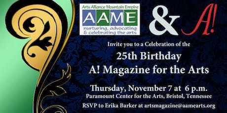A! Magazine for the Arts - 25th Birthday Party tickets