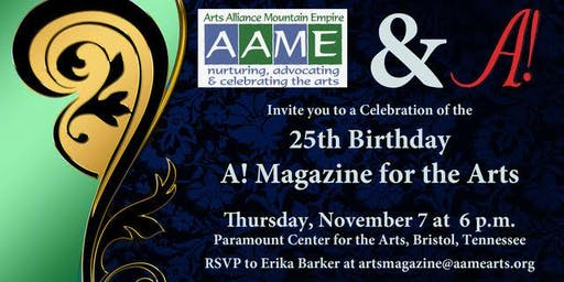 A! Magazine for the Arts - 25th Birthday Party