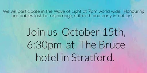 Pregnancy and Infant Loss Awareness Day, Wave of Light- Stratford