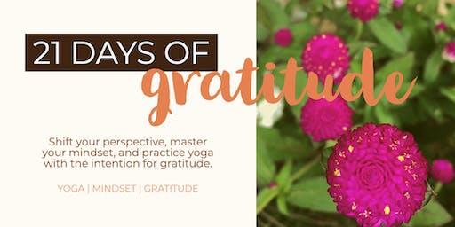Yoga + Mindset Workshop: A Focus on Gratitude
