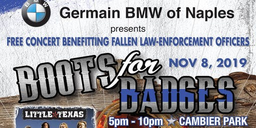 "Germain BMW Of Naples Presents ""BOOTS FOR BADGES"" Concert with Little Texas!"