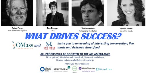 What drives success? Panel discussion, live music and street food
