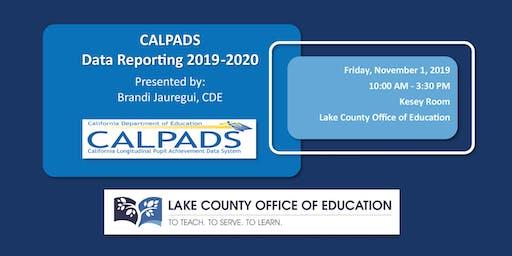 CALPADS Data Reporting 2019-2020