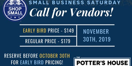 Small Business Saturday Early Bird Vendors tickets