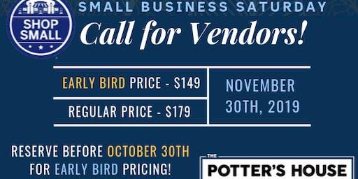 Small Business Saturday Early Bird Vendors