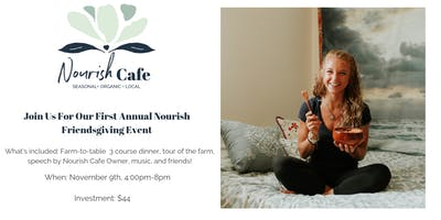 Nourish Cafe Friendsgiving Event