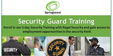 Security Guard Training tickets