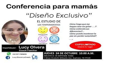 """CONFERENCIA PARA MAMáS """"DISEñO DIVINO""""  COMO ENTENDER A NUESTROS HIJOS"""