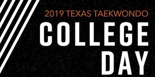 Texas Taekwondo College Day 2019