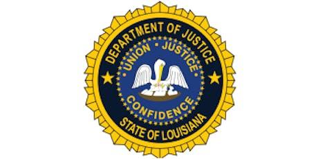 LADOJ Protecting Louisiana's Families Training tickets