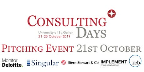 Pitching Event at Consulting Days 2019 Tickets