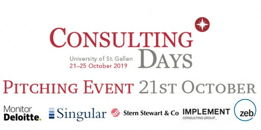 Pitching Event at Consulting Days 2019