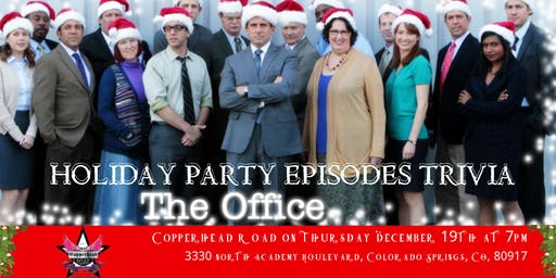 "The Office Trivia ""The Holiday Party Episodes"" at Copperhead Road"
