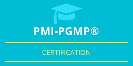 PgMP Classroom Training in Corner Brook, NL tickets
