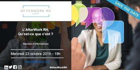 Qu'est-ce que l'AfterWork RH ? - 23 Octobre 2019 billets