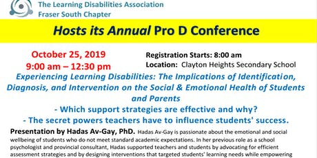 Pro-D Day Conference - Experiencing Learning Disabilities tickets